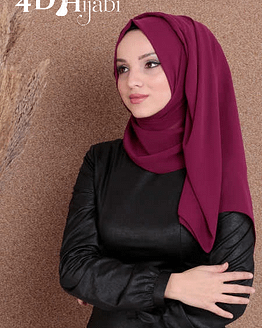 Turkish Chiffon Plum Hijab