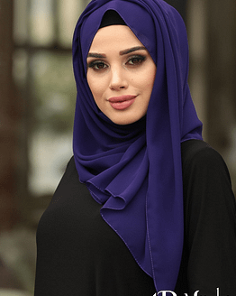 Turkish Chiffon Purple Hijab