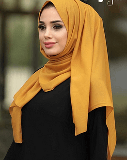 Turkish Chiffon Mustard Hijab