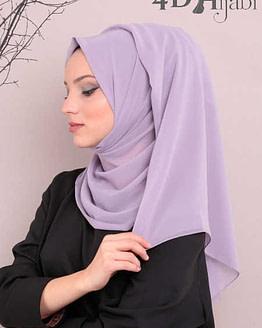 Turkish Chiffon Lila Hijab