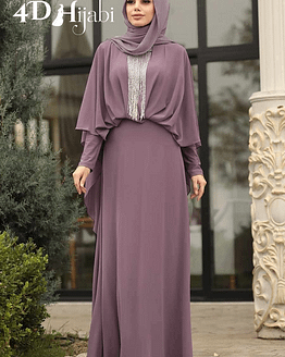Beautiful Turkish Dusty Rose Evening Dress