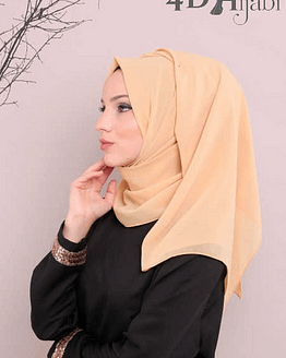 Turkish Chiffon Gold Hijab