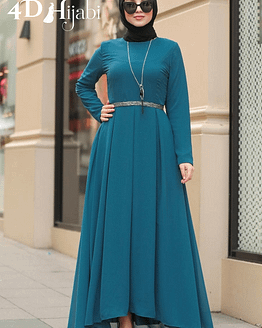 Turkish Indigo Blue Chiffon Dress