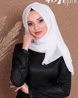 Turkish Chiffon Ecru Hijab