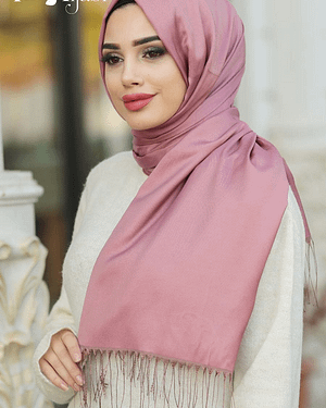Double Coloured Dusty Rose Turkish Hijab