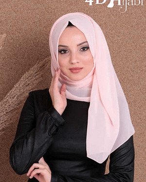 Turkish Chiffon Salmon Pink Hijab