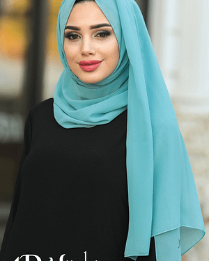 Turkish Chiffon Turquoise Hijab
