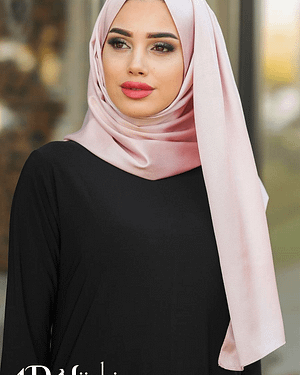 Light Pink Silk Turkish Hijab