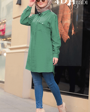 Long Sleeves Turkish Green Shirt